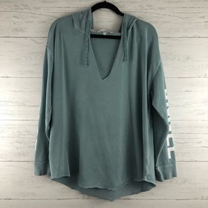 Victoria's Secret Teal V Neck Love Angel Hoodie